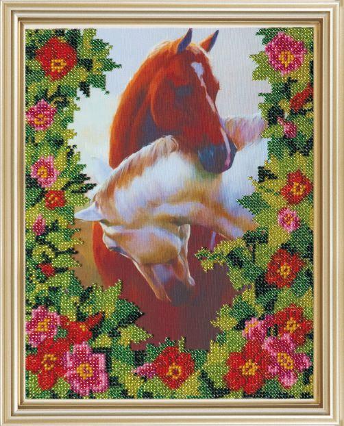 Набор для вышивания бисером Любовь, 20 х 25 см556088