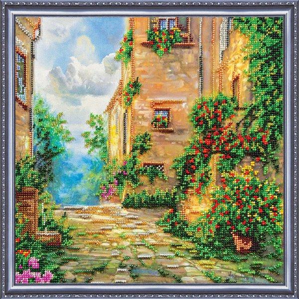 Набор для вышивания бисером Цветочная улица, 32 см х 32 см556149