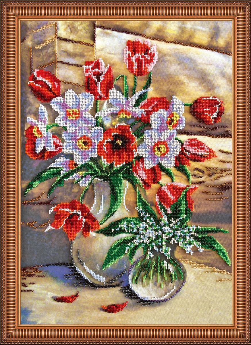 Набор для вышивания бисером Дыхание весны, 32 х 45 см АВ-230556152Набор для вышивания бисером Дыхание весны поможет вам создать свой собственный шедевр - красивую вышитую картину. Основа создаваемой картины - натуральный художественный холст аналогичный тому, на котором пишут картины художники. Благодаря ему все элементы, которые творил художник, создавая картину, по мотивам которой разработана схема для вышивки, передаются с максимальной точностью. Сама структура холста делает напечатанную на нем картину отличной репродукцией. Краски, которые используются для нанесения изображения, экосольвентные, а значит, вы можете смело стирать готовое изделие, удаляя с его поверхности загрязнения, а так же покрывать его лаком как при помощи аэрозолей, так и при помощи обычной кисточки! Кроме того со временем краски не потускнеют, не потрескаются - даже при попадании прямых солнечных лучей или влаги, им не страшны перепады температур и прочие неприятности. Благодаря особо прочной структуре холста картина никогда не деформируется под тяжестью бисера. ...