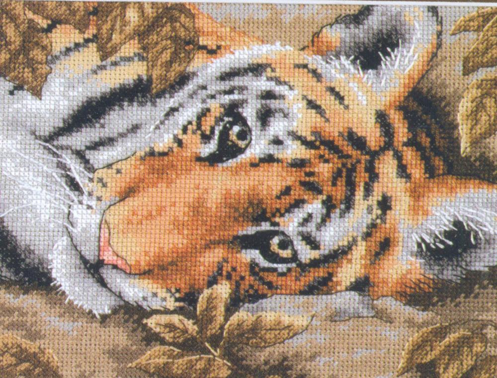 Набор для вышивания Dimensions Притягательный тигр, 17 х 12 см644799