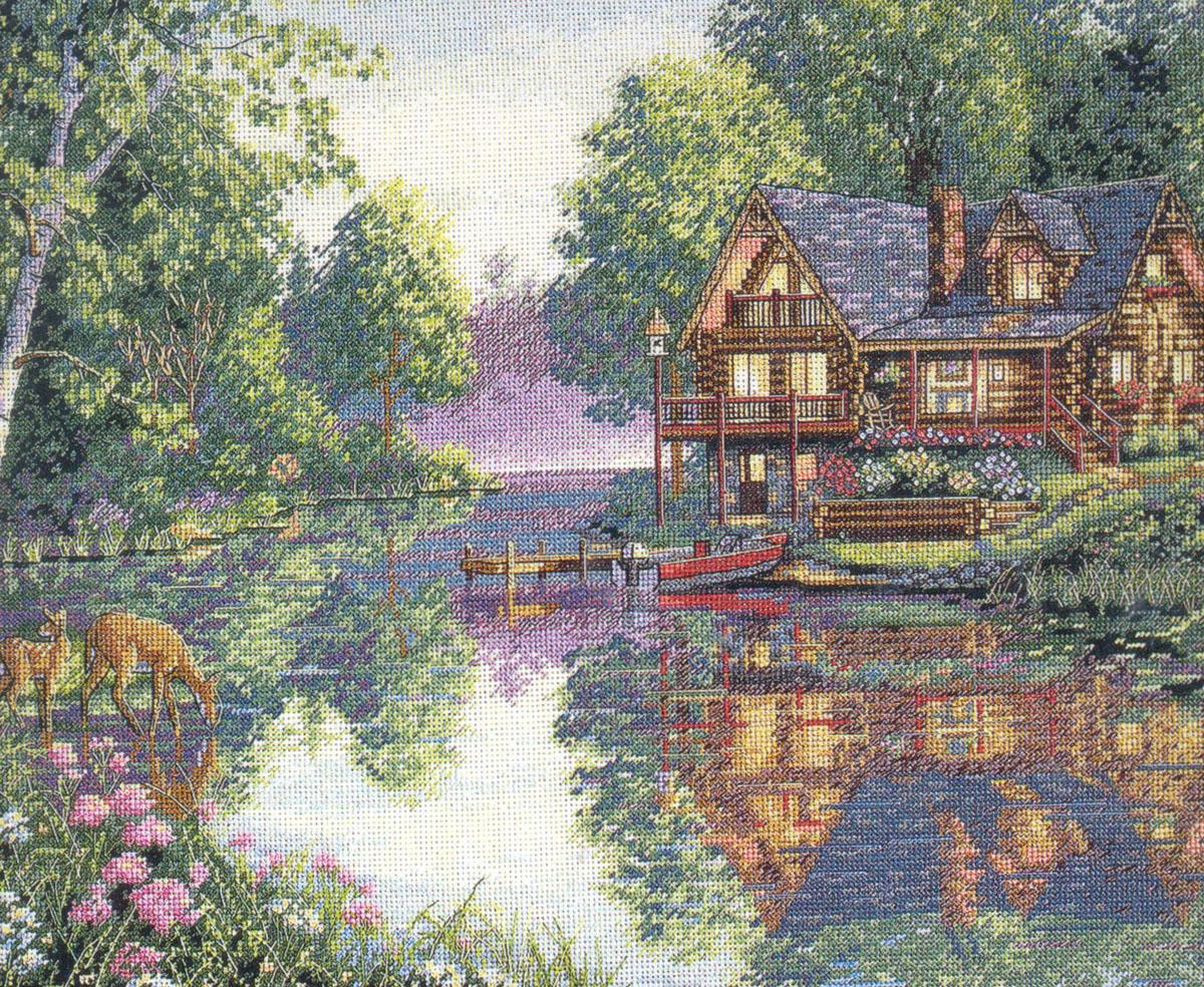 Набор для вышивания Dimensions Дом над водой, 40 см х 30 см35183-DMS