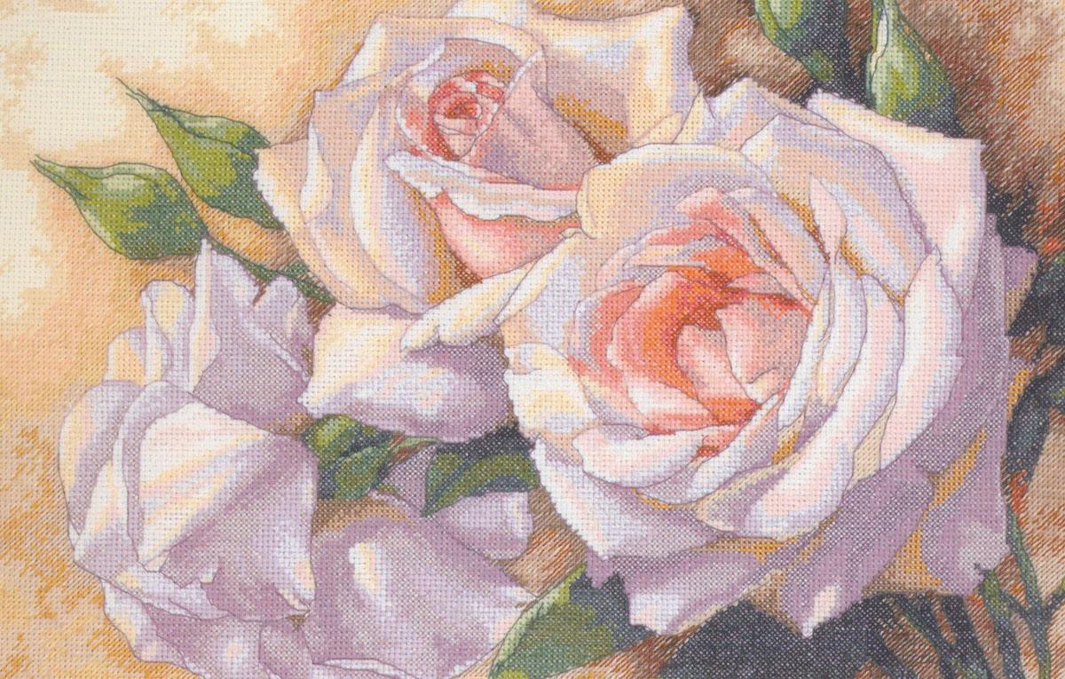 Набор для вышивания Dimensions Белые розы, 41 см х 28 см645613