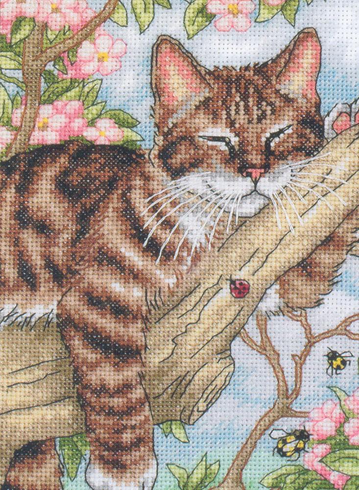Набор для вышивания Dimensions Спящий котенок, 13 см х 18 см645615