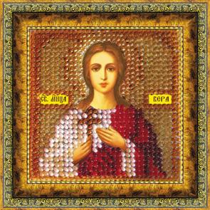 Набор для вышивания бисером Икона Святая Мученица Вера, 6,5 см х 6,5 см. 047ПМИ657001