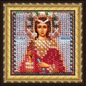 Набор для вышивания бисером Святая Мученица Любовь, 6,5 см х 6,5 см657003