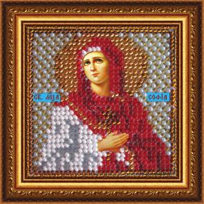 Набор для вышивания бисером Святая Мученица София, 6,5 х 6,5 см657004