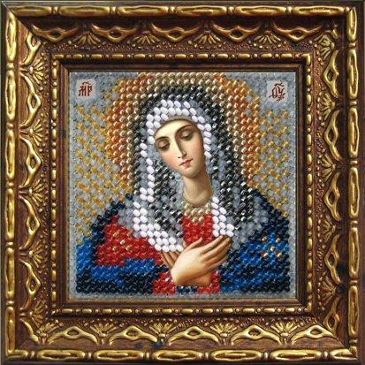 Набор для вышивания бисером Пресвятая Богородица Умиление, 6,5 х 6,5 см657020Набор для вышивания бисером Пресвятая Богородица Умиление поможет создать красивую вышитую икону. Рисунок-вышивка бисером, выполненный на канве, выглядит красиво, стильно и модно. Вышивание отвлечет вас от повседневных забот и превратится в увлекательное занятие! Работа, сделанная своими руками, не только украсит интерьер дома, придав ему уют и оригинальность, но и будет отличным подарком для друзей и близких! Набор для вышивания содержит все необходимые материалы для частичной вышивки на ткани в технике полукрест. Лики не вышиваются. В состав набора входит: - хлопково-льняная ткань с нанесенным рисунком-схемой, - чешский бисер (9 цветов), - бисерная игла, - рекомендации по вышиванию, - текст молитвы, - багетная рамка, - задник с клеевым 2-х сторонним скотчем, - инструкция на русском языке. Размер вышивки: 6,5 см х 6,5 см. Размер вышивки (в багете): 10,5 см х 10,5 см.