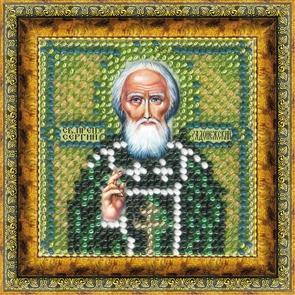 Набор для вышивания бисером Преподобный Сергий Радонежский, 6,5 х 6,5 см657042