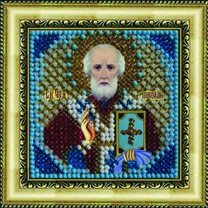 Набор для вышивания бисером Святой Николай Чудотворец, 6,5 х 6,5 см679652
