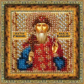 Набор для вышивания бисером Икона Святой Равноп. Князь Владимир, 6,5 см х 6,5 см679662