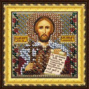 Набор для вышивания бисером Икона Св. Блг. Вл. Князь Александр, 6,5 х 6,5 см679663