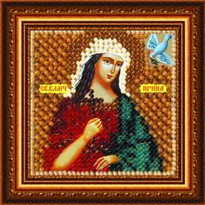 Набор для вышивания бисером Икона Святая Великомученица Ирина, 6,5 х 6,5 см 039ПМИ680443