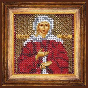 Набор для вышивания бисером Икона Св. Блаженная Ксения Петербургская, 6,5 х 6,5 см 043ПМИ680614