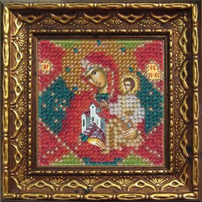 Набор для вышивания бисером Икона Божьей Матери Неопалимая купина, 6,5 см х 6,5 см684796Набор для вышивания бисером Икона Божьей Матери Неопалимая купина поможет создать красивую вышитую икону. Рисунок-вышивка бисером, выполненный на канве, выглядит красиво, стильно и модно. Вышивание отвлечет вас от повседневных забот и превратится в увлекательное занятие. Работа, сделанная своими руками, не только украсит интерьер дома, придав ему уют и оригинальность, но и будет отличным подарком для друзей и близких. Набор для вышивания содержит все необходимые материалы для частичной вышивки на ткани в технике полукрест. Лики не вышиваются. В состав набора входит: - хлопко-льняная ткань с нанесенным рисунком-схемой (9.5 см х 9,5 см); - чешский бисер (11 цветов); - бисерная игла; - рекомендации по вышиванию; - текст молитвы; - багетная рамка; - инструкция на русском языке. Для удобства оформления работы на рамке, в ее комплект входит задник с клеевым двусторонним скотчем. Цвета бисера и цвета на...