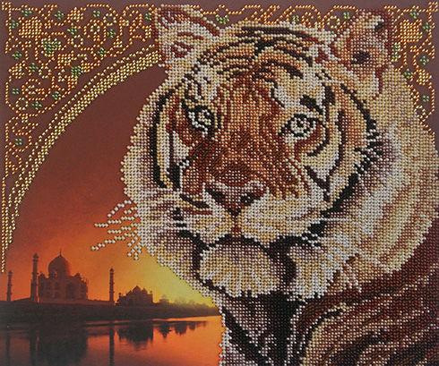 Набор для вышивания бисером Тигр, 23 см х 28 см. БГ-221692618