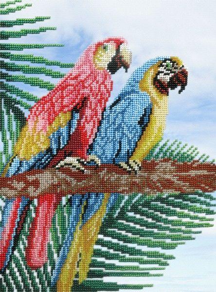 Набор для вышивания бисером Попугаи, 28 х 22 см БГ- 223692619Набор для вышивания Попугаи поможет вам создать свой личный шедевр - красивую картину, вышитую бисером. Работа, выполненная своими руками, станет отличным подарком для друзей и близких! Набор содержит: - канва с нанесенным рисунком: габардин, 100% полиэстер, - бисер (Чехия): 18 цветов, - игла бисерная, - схема для вышивания.