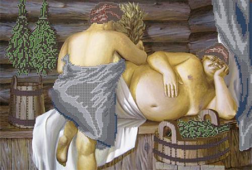 Набор для вышивания бисером Gluriya В бане, 40 х 30 см694650