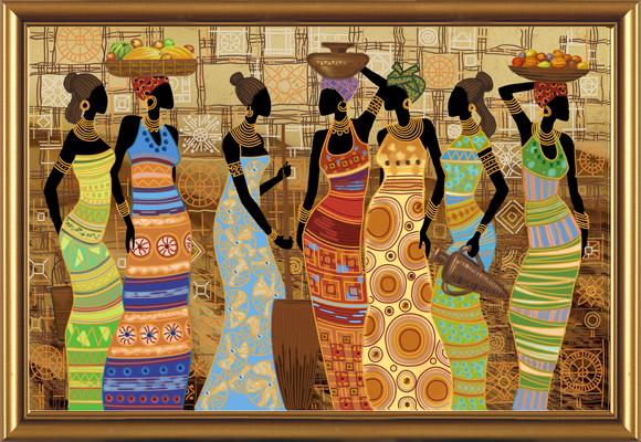 Набор для вышивания бисером Африканские красавицы, 76 х 50 см 697472697472Набор для вышивания Африканские красавицы поможет вам создать свой личный шедевр - красивую картину, вышитую бисером. Работа, выполненная своими руками, станет отличным подарком для друзей и близких! Набор содержит: - ткань габардин с нанесенным рисунком-схемой, - бисер Slovenska Busa, - пришивные камни, - игла бисерная, - нитки для вышивания бисером, - инструкция на русском языке. УВАЖАЕМЫЕ КЛИЕНТЫ! Обращаем ваше внимание на тот факт, что рамка в комплект не входит, а служит для визуального восприятия товара.