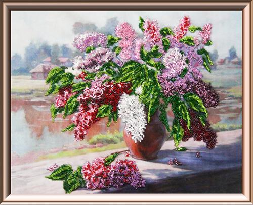 Набор для вышивания бисером Gluriya Утренний букет, 32 см х 40 см697953