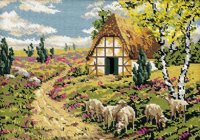 Набор для вышивания гобелена Стадо на лугу, 50 х 35 см411/31Красивый и стильный рисунок-вышивка, выполненный на канве, выглядит оригинально и всегда модно. В наборе для вышивания Стадо на лугу есть все необходимое для создания собственного чуда: канва с напечатанным рисунком, вышивальные нити, игла и руководство по вышиванию. Работа, сделанная своими руками, создаст особый уют и атмосферу в доме и долгие годы будет радовать вас и ваших близких. Ведь вы выполните вышивку с любовью!