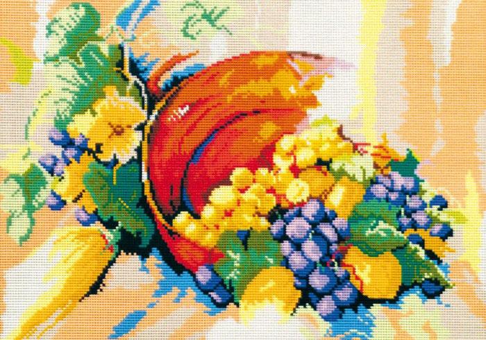 Набор для вышивания гобелена Натюрморт, 50 см х 35 см411/53Красивый и стильный рисунок-вышивка, выполненный на канве, выглядит оригинально и всегда модно. В наборе для вышивания Натюрморт есть все необходимое для создания собственного чуда: канва с напечатанным рисунком, вышивальные нити, игла и руководство по вышиванию. Работа, сделанная своими руками, создаст особый уют и атмосферу в доме и долгие годы будет радовать вас и ваших близких. Ведь вы выполните вышивку с любовью!