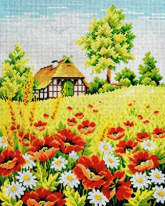 Набор для вышивания гобелена Маковое поле, 40 х 50 см427/14Красивый и стильный рисунок-вышивка, выполненный на канве, выглядит оригинально и всегда модно. В наборе для вышивания Маковое поле есть все необходимое для создания собственного чуда: канва с напечатанным рисунком, вышивальные нити, игла и руководство по вышиванию. Работа, сделанная своими руками, создаст особый уют и атмосферу в доме и долгие годы будет радовать вас и ваших близких. Ведь вы выполните вышивку с любовью!