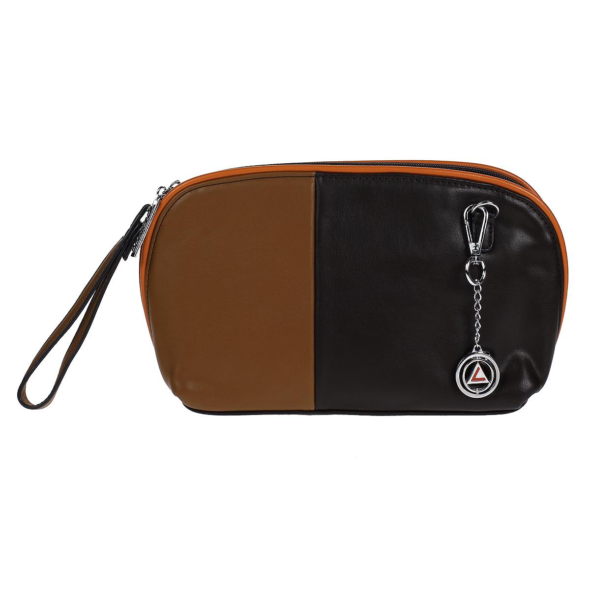 Сумка-клатч женская Leighton, цвет: коричневый, оранжевый. 510336-1166510336-1166/201/1166/203/Изысканная женская сумка-клатч Leighton выполнена из высококачественной искусственной кожи. Модель закрывается на застежку-молнию. Внутри одно отделение. В отделении есть один накладной кармашек и один врезной карман на застежке-молнии. Задняя сторона дополнена плоским врезным карманом на застежке-молнии. В комплекте - два плечевых ремня, разной длины, не большая ручка и чехол для хранения. Яркий дизайн сумки, сочетающий классические формы с оригинальным оформлением, позволит вам подчеркнуть свою индивидуальность и сделает ваш образ изысканным и завершенным.