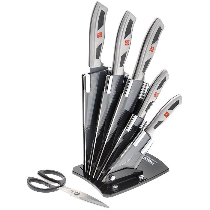 Набор ножей Vitesse Darcey, цвет: черный, 7 предметов. VS-1757VS-1757