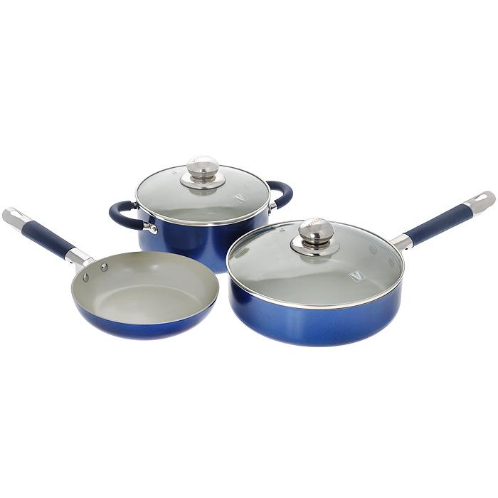 """Набор посуды """"Vitesse"""", с керамическим покрытием, 5 предметов. VS-2223"""