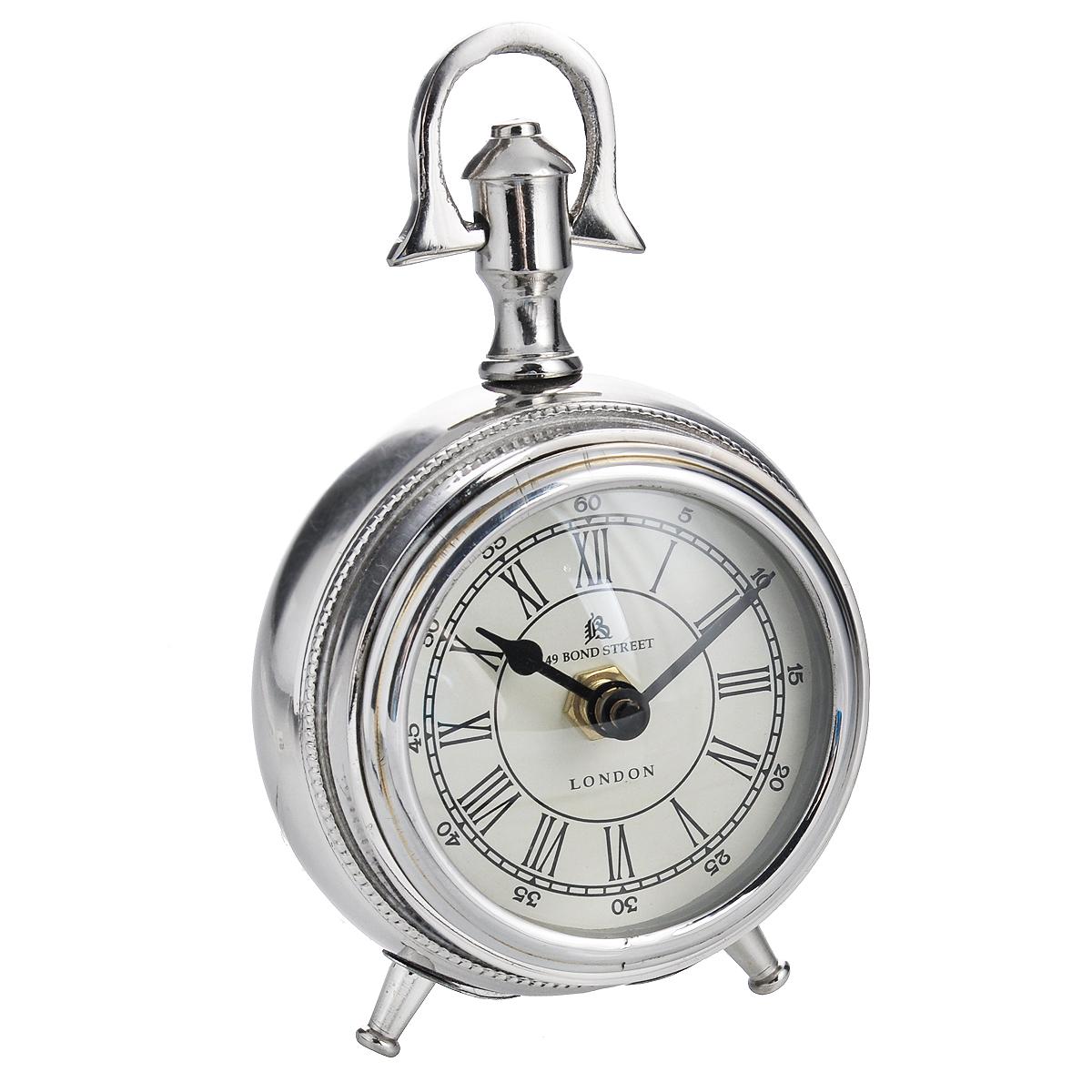 Часы настольные Win Max, цвет: металлик. 3582335823Оригинальный дизайн настольных часов Win Max разработан с учетом современных тенденций оформления интерьеров. Выполненные из металлического сплава в виде старинных часов, они, несомненно, будут привлекать к себе внимание. Часы с кварцевым механизмом работают плавно и бесшумно и требуют лишь примерно раз в год замены батарейки. На циферблате имеются часовая и минутная стрелки. Такие часы легко впишутся в любой интерьер и станут великолепным подарком! Характеристики: Материал: металл (алюминий), стекло. Общий размер (ДхШхВ): 10 см х 7 см х 13 см. Диаметр циферблата: 7 см.