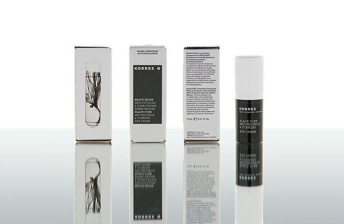 Korres Крем для глаз Black Pine, против морщин, укрепляющий, с черной сосной, 15 мл5203069045721Крем для глаз Korres Black Pine с экстрактом черной сосны и полифенолами обеспечивает природное омоложение кожи. Совместное действие более 9 активных ингредиентов, таких как: экстракт черной сосны, эпигаллокахетин (патент), натуральный гексапептид 11 (патент), активный экстракт масляного кресса, кверцетин (патент), комплекс сои и дикого ямса, натуральные олигосахариды (патент), экстракт черного овса и лецитин, активный экстракт черного чая (патент), обеспечивает укрепление и восстановление контура лица, сокращение морщин, увлажнение и сияние кожи, устраняет оттеки и темные круги под глазами. Экстракт дрожжей - стимулирует синтез коллагена и эластина, укрепляя нежную кожу вокруг глаз. Бетаин сахарной свеклы - помогает поддерживать водный баланс клетки и противостоять вредному воздействию окружающей среды, стимулирует производство коллагена и увеличивает энергию клеток, таким образом, повышая общую активность клеток и укрепляя кожу. Товар сертифицирован.
