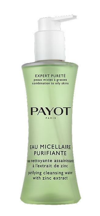 Payot Мицеллярная вода Expert Purete для лица, очищающая, 200 мл65090385Мицеллярная вода Payot Expert Purete на основе экстракта цинка очищает кожу от загрязнений, излишка кожного сала, удаляет макияж и оздоравливает кожу. Способ применения : наносить утром и вечером с помощью ватного диска на кожу лица, шеи и декольте, можно смывать, можно не смывать.