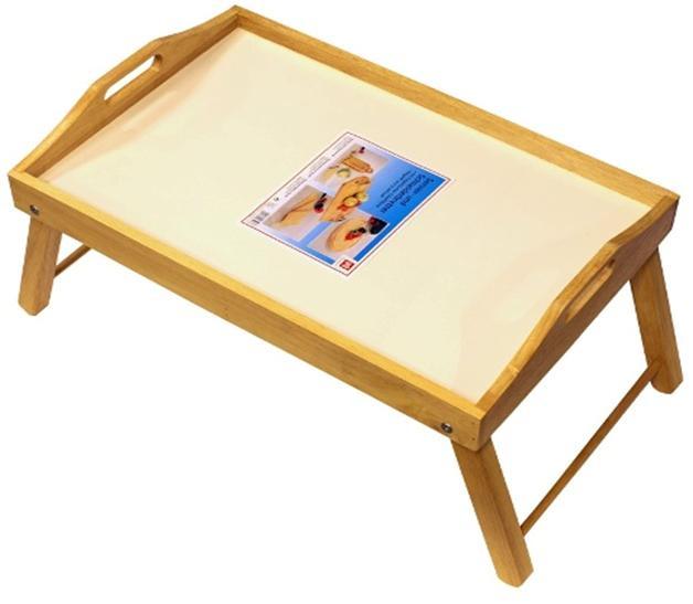 Поднос на ножках Dormann, светлое дерево8506Удобный поднос Dorman, выполненный из высококачественной древесины, практичен и прослужит вам долгие годы. Поднос имеет складные ножки, поэтому может использоваться как столик. Благодаря двум ручкам вы сможете с легкостью переносить поднос, а удобные ножки надежно удержат его на любой поверхности. С подносом Dorman ваш утренний завтрак станет незабываемым! Немецкая фирма Dormann основана в 1985 году. Компания производит большой ассортимент изделий из дерева. В их число входят подносы, наборы специй, перечницы, разделочные доски, держатели для бокалов и пивных кружек. Для изготовления этих товаров используются каучуковое дерево, сплав стали с хромом и стекло. Разнообразный интересный дизайн, удобство в использовании и прочность материалов, из которых изготовлена продукция, дают полное право называть продукцию Dormann эталоном качества!
