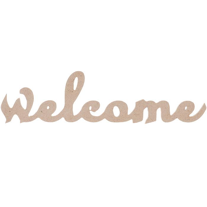 Заготовка для декупажа Кустарь Надпись Welcome, 30 см х 7,5 см х 0,4 смAM616002Качественная деревянная заготовка для занятий декупажом Кустарь выполнена в виде надписи Welcome. Декупаж - техника декорирования различных предметов, основанная на присоединении рисунка, картины или орнамента (обычного вырезанного) к предмету, и, далее, покрытии полученной композиции лаком ради эффектности, сохранности и долговечности.