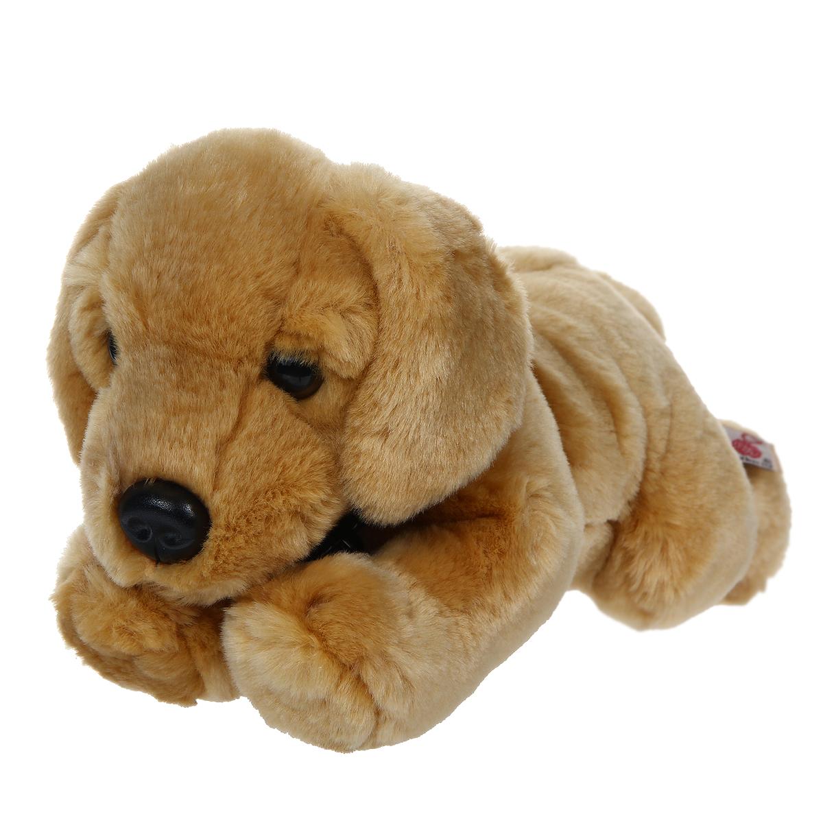 Мягкая игрушка Лабрадор, 30 смSD4553Очаровательная мягкая игрушка Лабрадор вызовет умиление и улыбку у каждого, кто ее увидит. Игрушка удивительно приятна на ощупь, а специальные гранулы, используемые при ее набивке, способствуют развитию мелкой моторики рук ребенка. Мягкая игрушка Лабрадор с милой мордочкой и ясными глазками, имеет ошейник из искусственной кожи, на котором прикреплена бирка с надписью Monty. Оригинальный стиль и великолепное качество исполнения делают эту игрушку чудесным подарком к любому празднику, а милый образ представит такой подарок в самом лучшем свете.