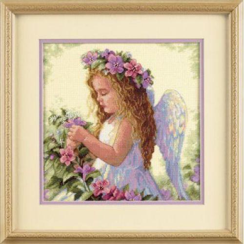 Набор для вышивания Dimensions Цветочный ангел, 27 см х 27 смDMS-35229Красивый и стильный рисунок-вышивка, выполненный на канве, выглядит оригинально и всегда модно. В наборе для вышивания Цветочный ангел есть все необходимое для создания собственного чуда: хлопковое мулине, 14 канва Аида цвета слоновой кости, палитра для разбора нитей, игла, инструкция. Работа, сделанная своими руками, создаст особый уют и атмосферу в доме и долгие годы будет радовать Вас и Ваших близких. А подарок, выполненный собственноручно, станет самым ценным для друзей и знакомых. Элементы оформления в комплект не входят.