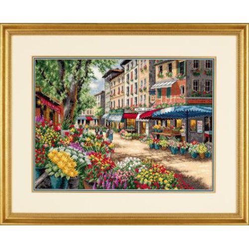 Набор для вышивания Dimensions Рынок в Париже, 38 см х 27 смDMS-35256Красивый и стильный рисунок-вышивка, выполненный на канве, выглядит оригинально и всегда модно. В наборе для вышивания Рынок в Париже есть все необходимое для создания собственного чуда: хлопковое мулине разобранное по цветам, 18 канва Аида цвета слоновой кости, игла и инструкция. Работа, сделанная своими руками, создаст особый уют и атмосферу в доме и долгие годы будет радовать Вас и Ваших близких. А подарок, выполненный собственноручно, станет самым ценным для друзей и знакомых. Элементы оформления в комплект не входят.