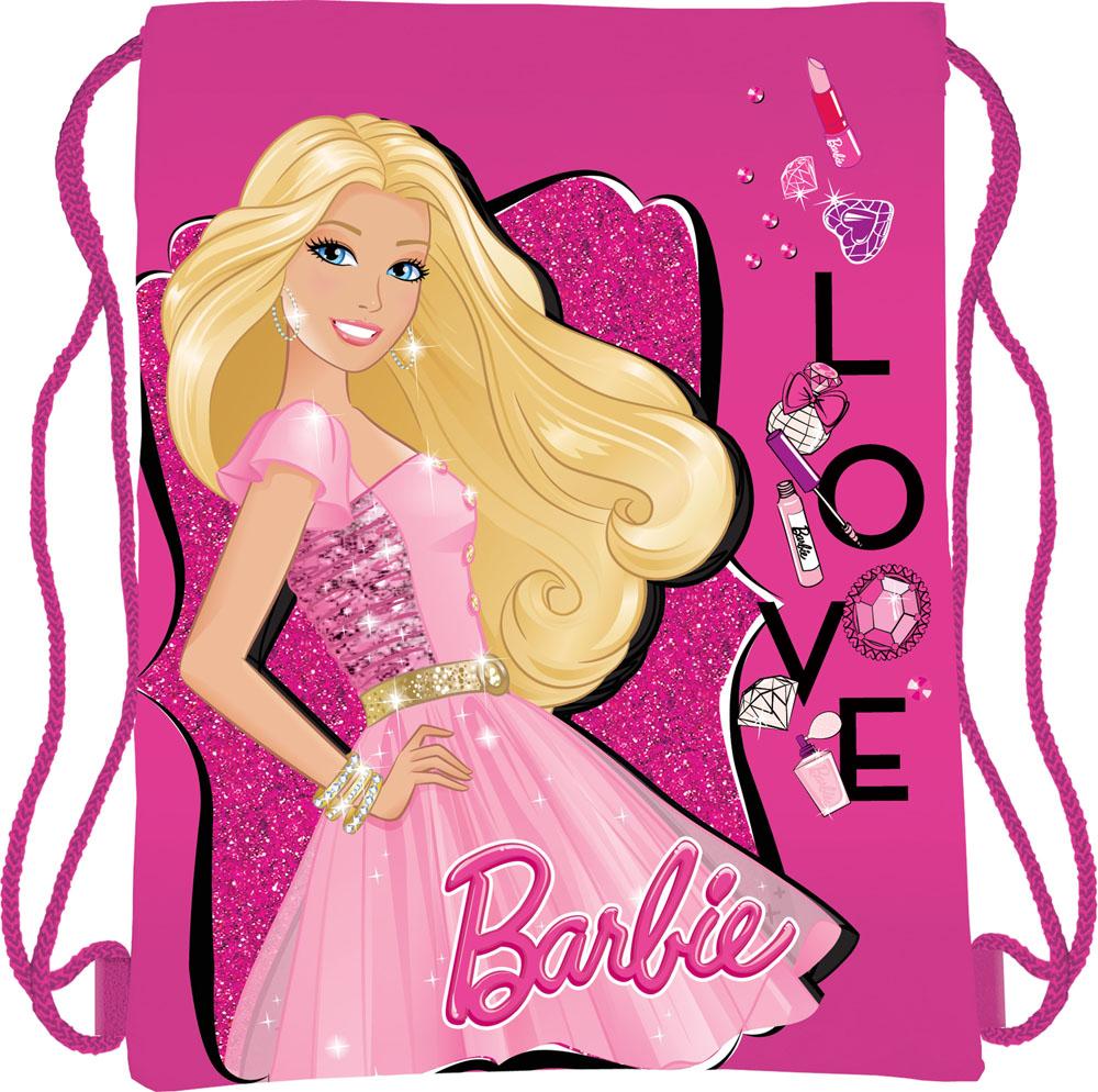 Сумка для сменной обуви Barbie, цвет: ярко-розовыйBRBB-RT2-883Сумка для сменной обуви Barbie идеально подойдет как для хранения, так и для переноски сменной обуви и одежды. Сумка выполнена из мягкого водоотталкивающего материала и дополнена одним вместительным отделением, затягивающимся с помощью текстильного шнурочка. Шнурки фиксируются в нижней части сумки, благодаря чему ее можно носить за спиной как рюкзак. Оформлено изделие ярким принтом с изображением очаровательной куколки Барби.