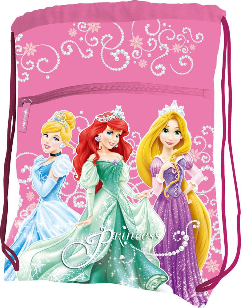 """Сумка для сменной обуви """"Disney Princess"""", цвет: розовый PRBB-RT2-880"""