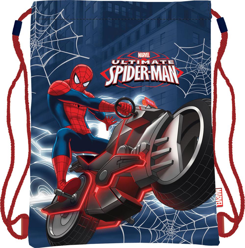 Сумка для сменной обуви Spider-Man, цвет: темно-синий, красныйSMAP-MT1-883Сумка для сменной обуви Spider-Man идеально подойдет как для хранения, так и для переноски сменной обуви и одежды. Сумка выполнена из мягкого водоотталкивающего материала и дополнена одним вместительным отделением, затягивающимся с помощью текстильного шнурочка. Шнурки фиксируются в нижней части сумки, благодаря чему ее можно носить за спиной как рюкзак. Оформлено изделие ярким принтом с изображением Человека-паука - главного героя мультфильма Spider-Man.