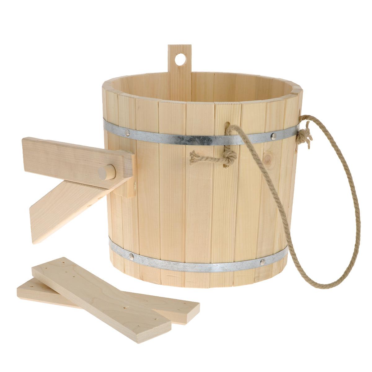 Обливное устройство Доктор баня, 16 л904937Обливное устройство Доктор баня состоит из деревянной емкости, двух кронштейнов и впускного клапана для воды. Обливное устройство изготовлено из деревянных шпунтованный клепок, склеенных между собой водостойким клеем и стянутых двумя обручами из нержавеющей стали. Внутри и снаружи устройство покрыто экологически безопасной мастикой на основе природного воска, который обеспечивает высокую степень защиты древесины от воздействия воды. Обливное устройство может монтироваться как к стенам, так и к потолку помещения. Обливное устройство предназначено для контрастного обливания после высоких температур парной в банях и саунах. Обливные устройства используются как внутри бани, так и снаружи. Рекомендуется периодически проверять прочность узловых соединений и надежность крепления к стене.
