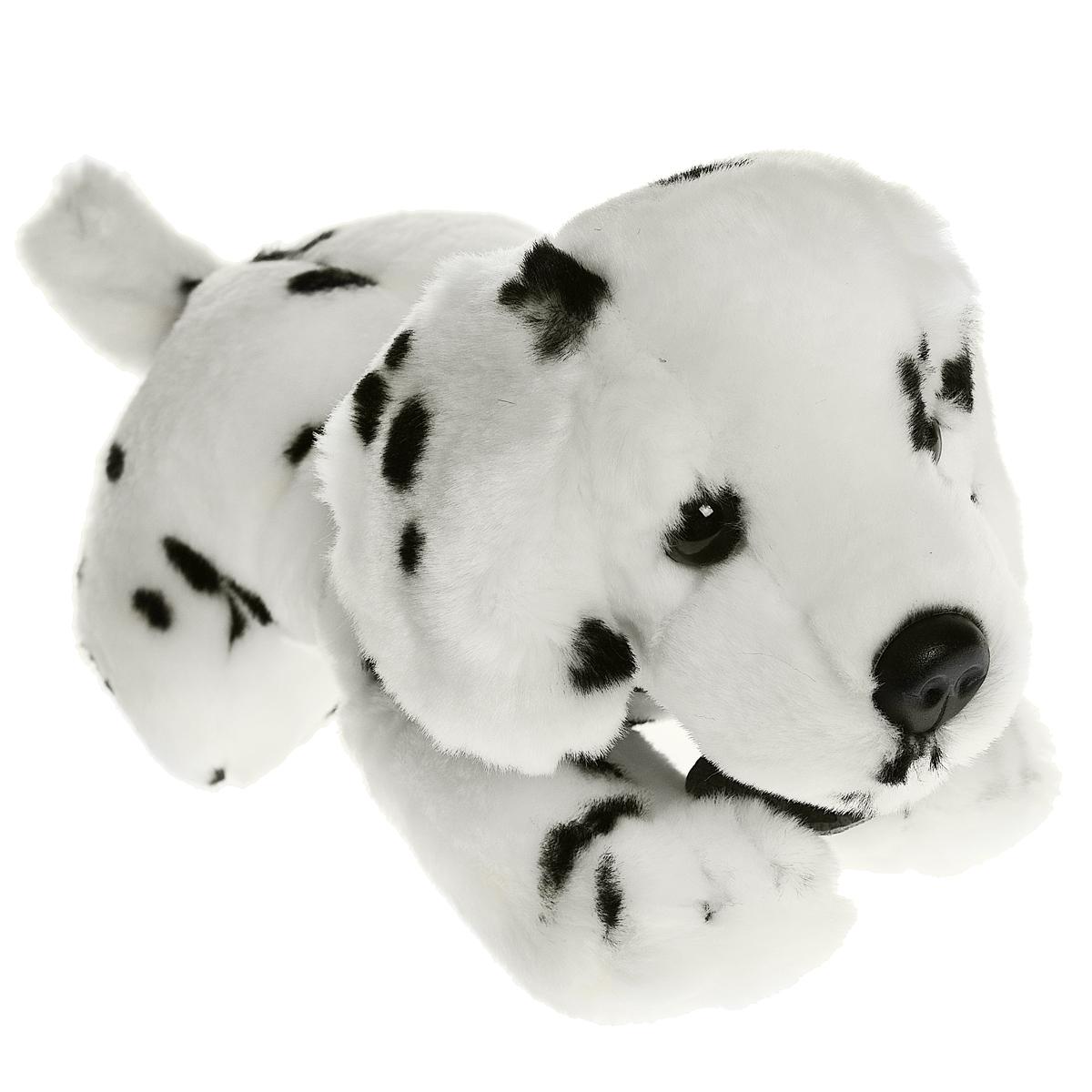 Мягкая игрушка Далматинец, 30 смSD4563Очаровательная мягкая игрушка Далматинец вызовет умиление и улыбку у каждого, кто ее увидит. Игрушка удивительно приятна на ощупь, а специальные гранулы, используемые при ее набивке, способствуют развитию мелкой моторики рук ребенка. Мягкая игрушка Далматинец с милой мордочкой и ясными глазками, имеет ошейник из искусственной кожи, на котором прикреплена бирка с надписью Buttons. Оригинальный стиль и великолепное качество исполнения делают эту игрушку чудесным подарком к любому празднику, а милый образ представит такой подарок в самом лучшем свете.