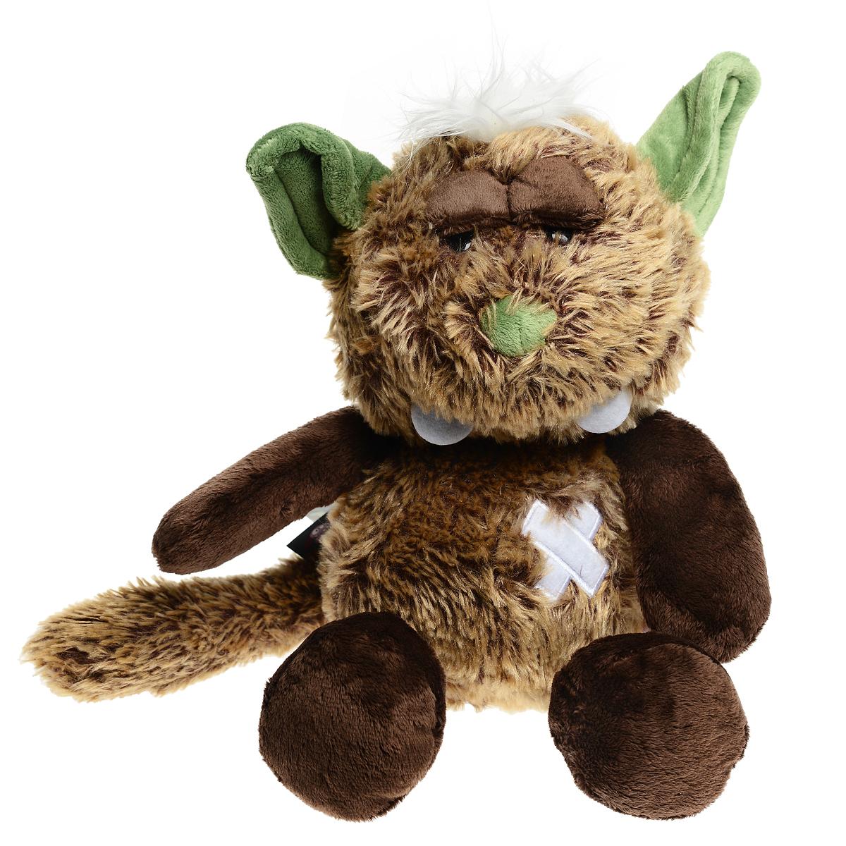 Мягкая игрушка Nici Монстр Упс, сидячая, 25 см35168Очаровательная мягкая игрушка Nici Монстр Упс подарит вашему ребенку много радости и веселья! Она выполнена из мягких материалов с набивкой из синтепона в виде милого коричневого монстрика с зелеными ушами и носом, большими зубами и пластырем на животике. Игрушка удивительно приятна на ощупь. Гранулы, используемые при ее набивке, способствуют развитию у ребенка мелкой моторики пальчиков. Чудесная мягкая игрушка принесет радость и подарит своему обладателю мгновения нежных объятий и приятных воспоминаний. NICI - немецкая компания, являющаяся одним из лидеров на Европейском рынке мягких игрушек и подарков. Игрушки NICI стали неотъемлемой частью жизни многих людей в самых разных уголках нашей планеты.