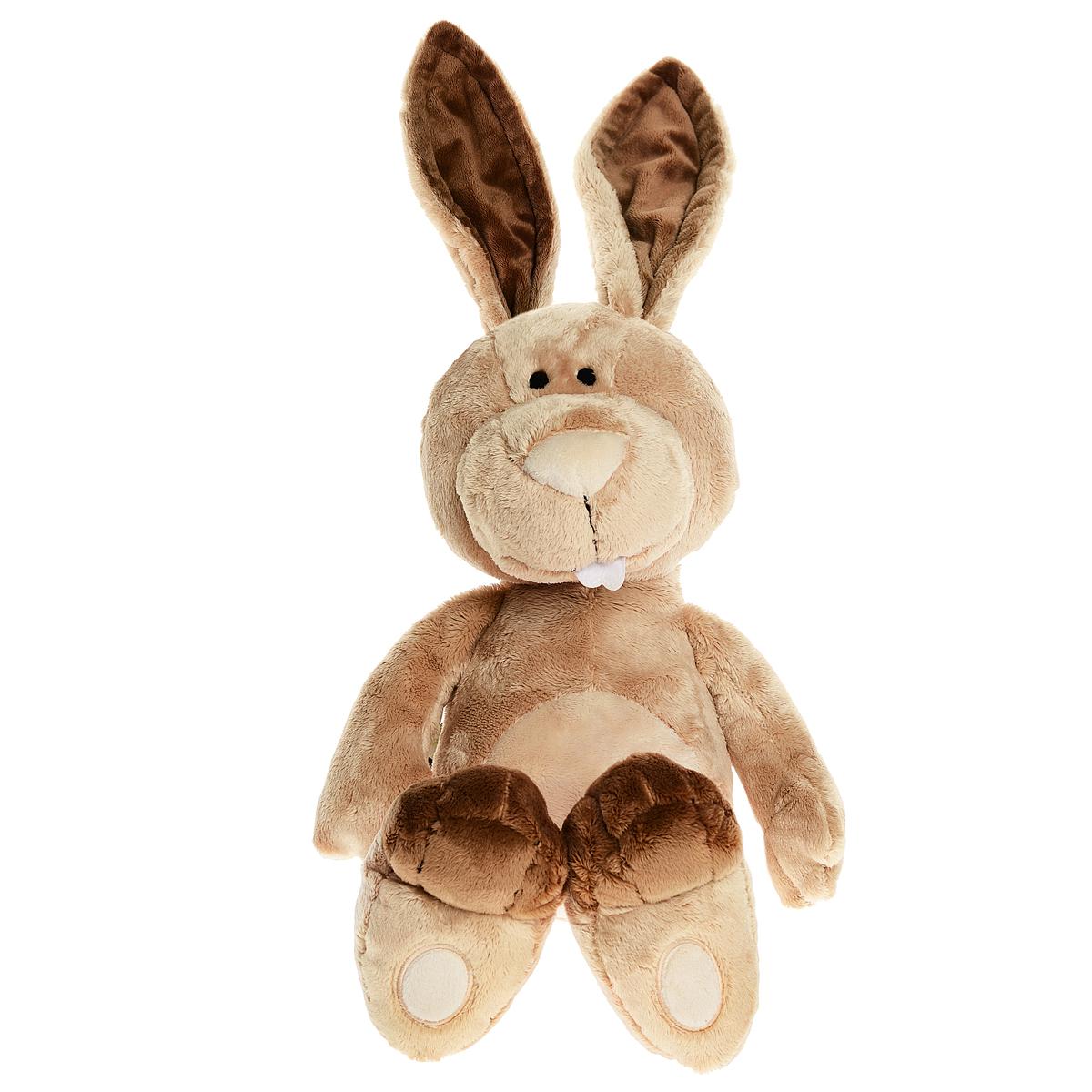 Мягкая игрушка Nici Кролик Ральф, сидячая, 50 см36513Очаровательная мягкая игрушка Nici Кролик Ральф подарит вашему ребенку много радости и веселья! Она выполнена из мягких материалов с набивкой из синтепона и гранул в виде симпатичного бежевого кролика с длинными ушками и пушистым хвостиком. Игрушка удивительно приятна на ощупь. Гранулы, используемые при ее набивке, способствуют развитию у ребенка мелкой моторики пальчиков. Внутри ушек имеется проволочный каркас, им можно придать любое положение. Можно играть с малышом в прятки: спрятать Ральфа за его ушками и снова найти. Чудесная мягкая игрушка принесет радость и подарит своему обладателю мгновения нежных объятий и приятных воспоминаний. NICI - немецкая компания, являющаяся одним из лидеров на Европейском рынке мягких игрушек и подарков. Игрушки NICI стали неотъемлемой частью жизни многих людей в самых разных уголках нашей планеты.
