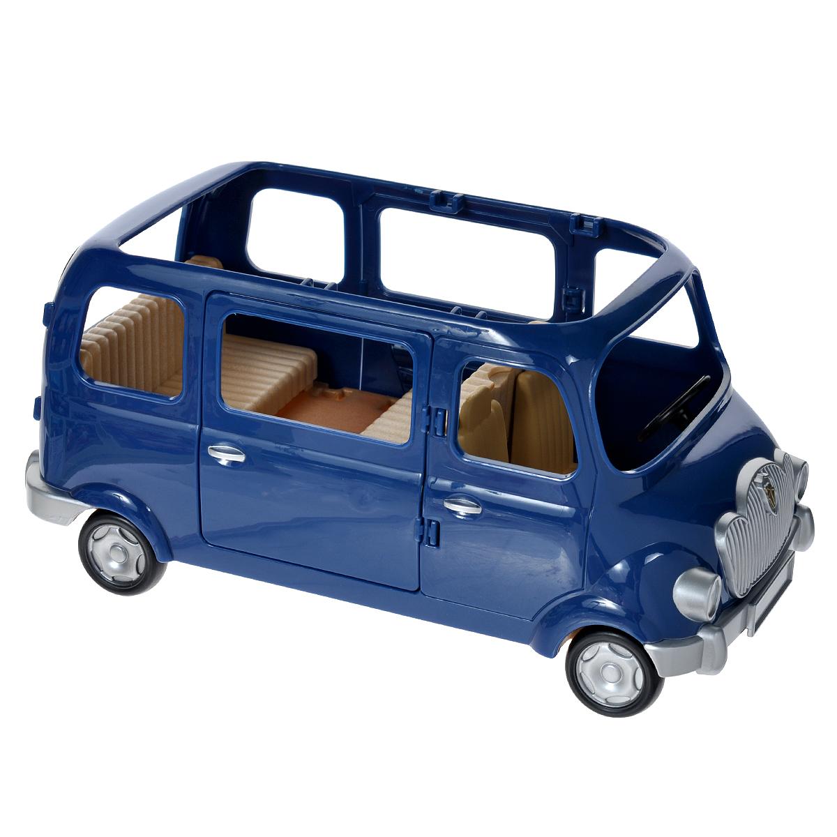 Sylvanian Families Семейный автомобиль на 7 мест2003Игровой набор Sylvanian Families Семейный автомобиль, 7 мест привлечет внимание вашей малышки и не позволит ей скучать. Набор включает в себя автомобиль с тремя рядами сидений, три детских кресла для малыша и двойняшек, а также две дорожные карты. Кресла снабжены специальными резиночками для крепления фигурок. Дверцы машины открываются. Ваша малышка будет часами играть с набором, придумывая различные истории. Sylvanian Families - это целый мир маленьких жителей, объединенных общей легендой. Жители страны Sylvanian Families - это кролики, белки, медведи, лисы и многие другие. У каждого из них есть дом, в котором есть все необходимое для счастливой жизни. В городе, где живут герои, есть школа, больница, рынок, пекарня, детский сад и множество других полезных объектов. Жители этой страны живут семьями, в каждой из которой есть дети. В домах Sylvanian Families царит уют и гармония. Домашние животные радуют хозяев. Здесь продумана каждая...