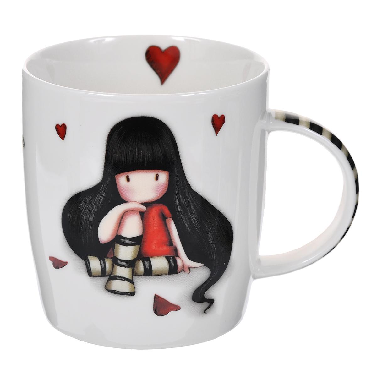 Кружка The Collector, цвет: черный, белый. 005413005413Кружка The Collector из фарфора послужит отличным сувениром для любительниц чая, какао и горячего шоколада. Кружка оформлена принтами с изображением очаровательной девочки и имеет симпатичный рисунок на внутренней стенке. Кружка упакована в фирменную подарочную коробку. Подходит для использования в посудомоечной машине и микроволновке.