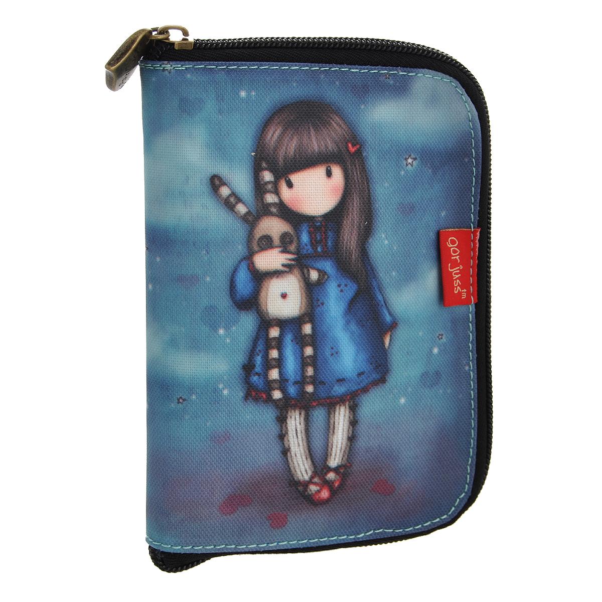 Складывающаяся сумка для покупок Hush Little Bunny, цвет: синий. 00122090012209Складывающаяся сумка для покупок с милой девочкой Gordjuss непременно порадует вас или станет прекрасным подарком. Сумка складывается в симпатичный чехольчик на молнии, сама сумка выполнена из текстиля синего цвета с орнаментом и имеет две удобные ручки. Сумка очень удобна в использовании - ее легко раскладывать и складывать.