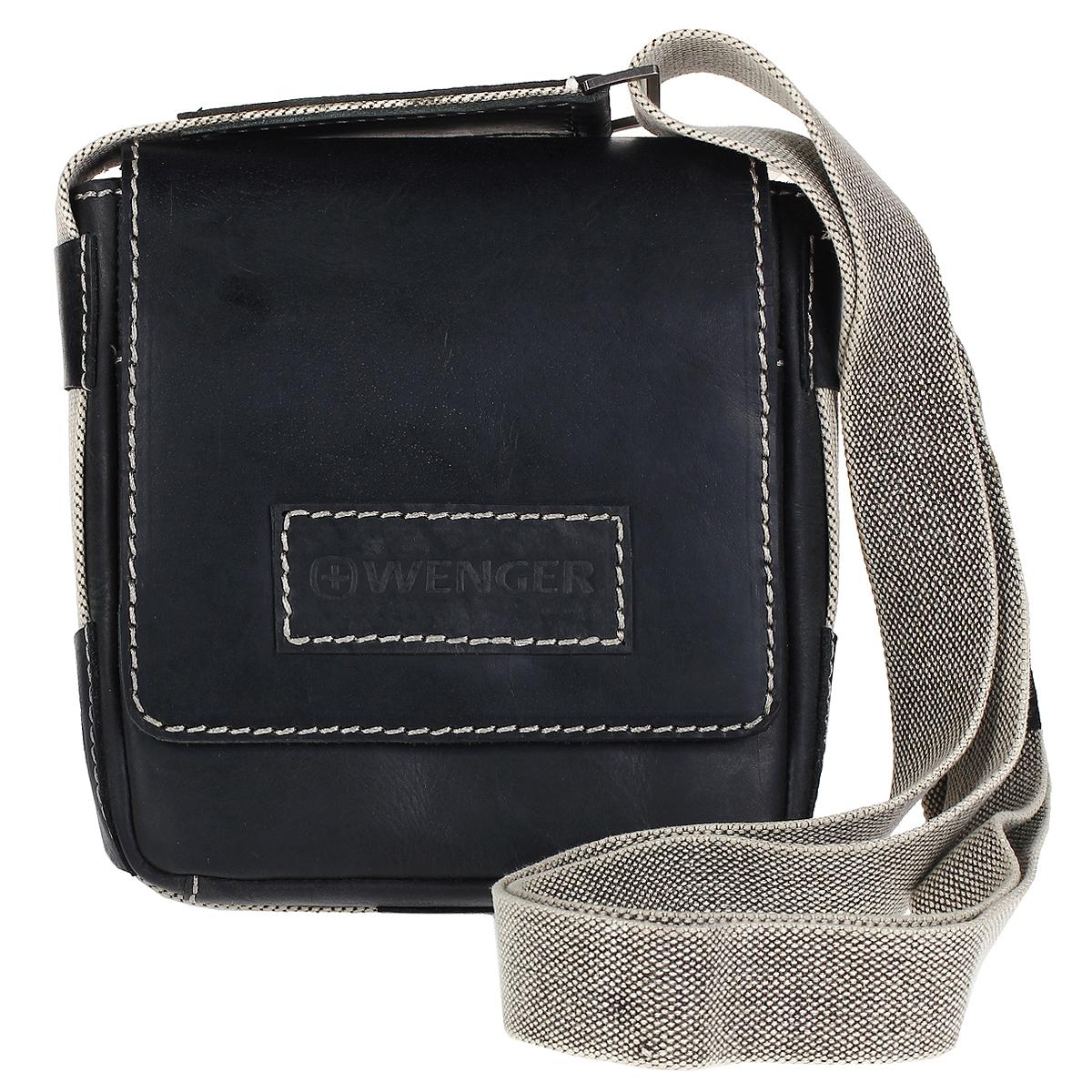 Сумка-планшет Wenger Arizona, цвет: серый. W23-03BlW23-03BlМужская сумка-планшет Wenger Arizona изготовлена из высококачественной воловьей натуральной кожи серого цвета. Кожа серии Arizona (коровья кожа) имеет потертый внешний вид, что делает ее уникальной и создает специфический эффект старины. Сумка по всей поверхности оформлена стежками светло-серого цвета. Сумка имеет одно основное отделение, которое закрывается клапаном на магнитную кнопку. Внутри содержится два накладных кармашка, два держателя для ручек, вшитый карман на молнии и 6 кармашков для пластиковых карт или визиток. Внутренняя поверхность отделана полиэстером черного цвета. Под клапаном содержится открытый карман. С задней стороны сумки расположено дополнительное отделение на молнии. Изделие оснащено плечевым ремнем регулируемой длины из плотного полиэстера. Ремень снабжен вставкой для удобной переноски на плече. Такую сумку можно взять с собой куда угодно, начиная от работы или учебы, заканчивая деловой встречей или походом с друзьями в кино....