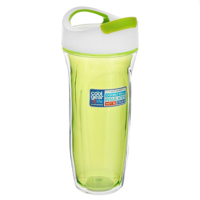 Кружка дорожная Cool Gear Vortex для горячих напитков, цвет: зеленый, 660 мл. 16501650 зелДорожная кружка Cool Gear Vortex изготовлена из высококачественного BPA-free пластика, не содержащего токсичных веществ. Двойные стенки дольше сохраняют напиток горячим и не обжигают руки. Надежная закручивающаяся крышка с защитой от проливания обеспечит дополнительную безопасность. Крышка оснащена клапаном для питья. Оптимальный объем позволит взять с собой большую порцию горячего кофе или чая. Идеально подходит для холодных напитков. Оригинальный дизайн, яркие, жизнерадостные цвета и эргономичная форма превращают кружку в стильный и функциональный аксессуар. Кружка идеальна для ежедневного использования. Она станет вашим неотъемлемым спутником в длительных поездках или занятиях зимними видами спорта. Не рекомендуется использовать в микроволновой печи и мыть в посудомоечной машине.