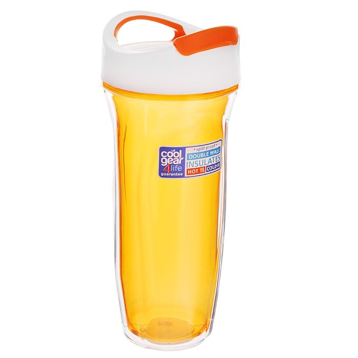 Кружка дорожная Cool Gear Vortex, для горячих напитков, цвет: оранжевый, 660 мл. 16501650 оранжДорожная кружка Cool Gear Vortex изготовлена из высококачественного BPA-free пластика, не содержащего токсичных веществ. Двойные стенки дольше сохраняют напиток горячим и не обжигают руки. Надежная закручивающаяся крышка с защитой от проливания обеспечит дополнительную безопасность. Крышка оснащена клапаном для питья. Оптимальный объем позволит взять с собой большую порцию горячего кофе или чая. Идеально подходит для холодных напитков. Оригинальный дизайн, яркие, жизнерадостные цвета и эргономичная форма превращают кружку в стильный и функциональный аксессуар. Кружка идеальна для ежедневного использования. Она станет вашим неотъемлемым спутником в длительных поездках или занятиях зимними видами спорта. Не рекомендуется использовать в микроволновой печи и мыть в посудомоечной машине. Диаметр кружки (по верхнему краю): 8,5 см. Высота кружки (с учетом крышки): 23 см.